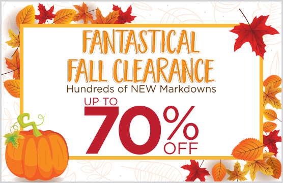 Fall Clearance Savings