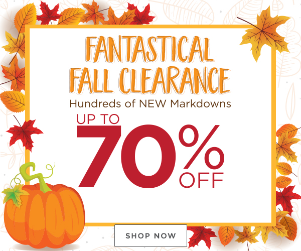 Fall Clearance Savings