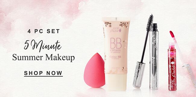 4PC SET. 5 minute summer makeup. Shop Now