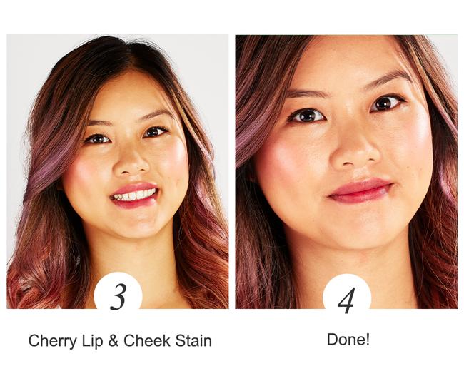 cherry lip & cheek stain. Done!