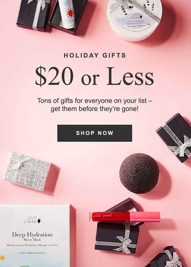 HOLIDAY GIFTS $20 or Less