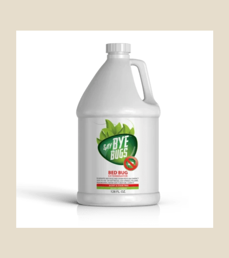 SayByeBugs Bed Bug Extermination Spray - 1 gallon refill - New Formula