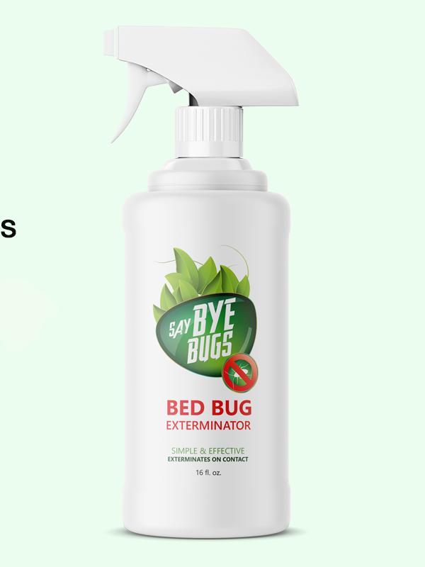SayByeBugs Bed Bug Extermination Spray New & Improved Formula - 16oz