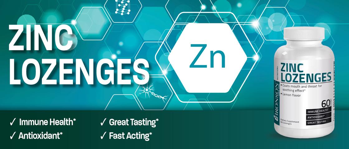 Zinc Lozenges | ✓ Immune Health* ✓ Great Tasting* ✓ Antioxidant* ✓ Fast Acting*