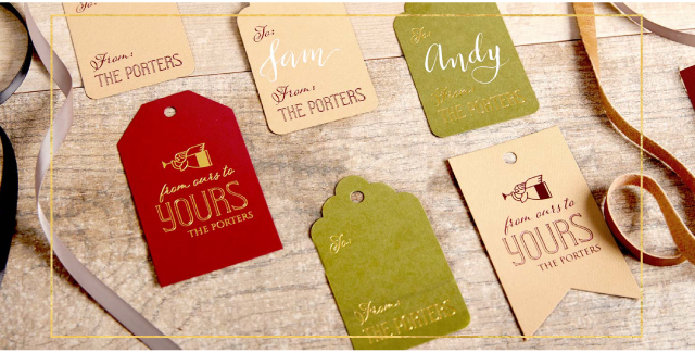 Custom Holiday Gift Tags!