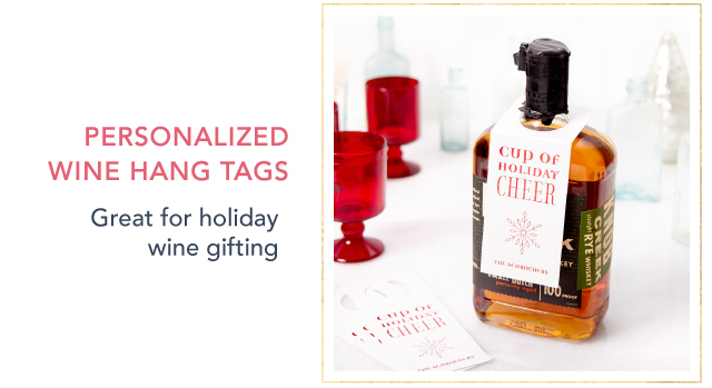 Personalized Wine Hang Tag