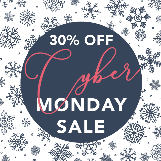 Cyber Monday Sale - 30% OFF