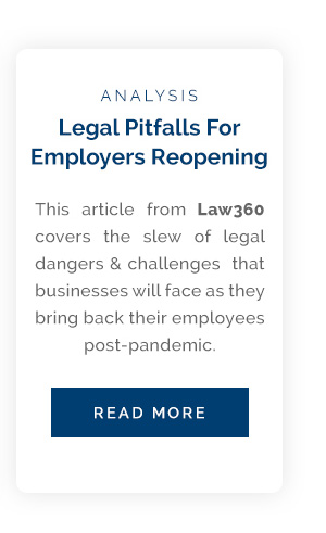 Legal Pitfalls for Employers Reopening