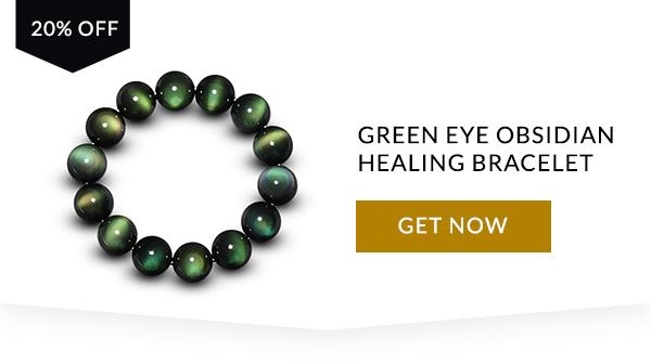 Green Eye Obsidian Heilarmband
