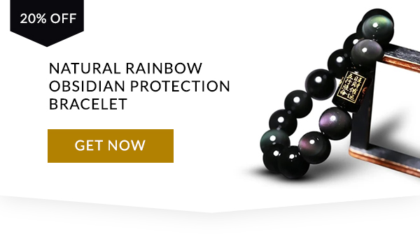Natürliches Regenbogen-Obsidianschutzarmband