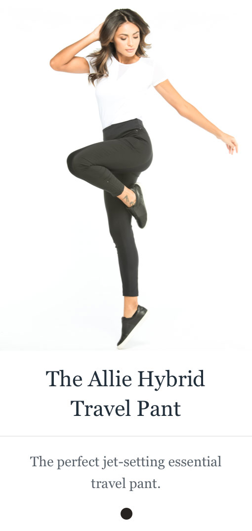Shop the Allie Hybrid Travel Pant