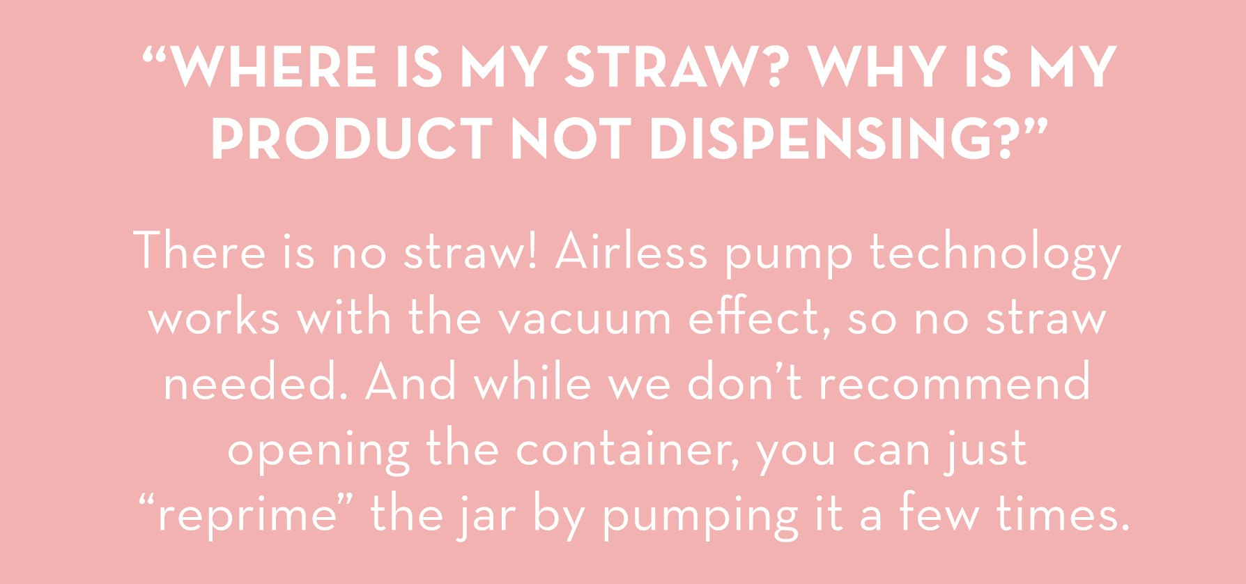 Airless Pump Missing