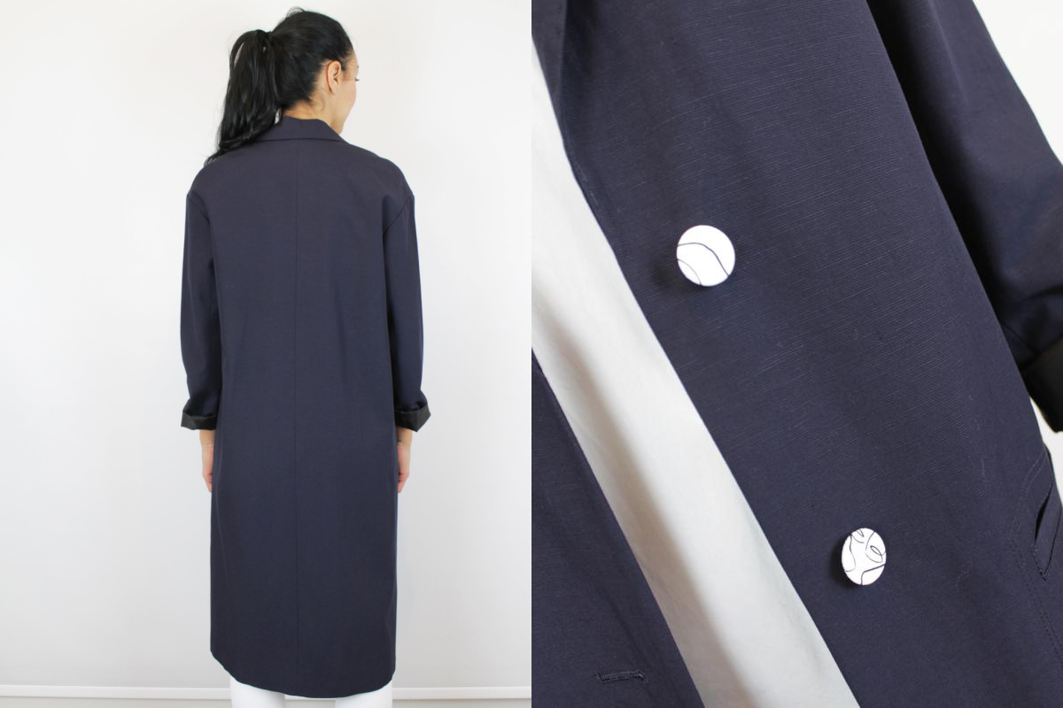 By Malene Birger Boyfriend Coat Navy