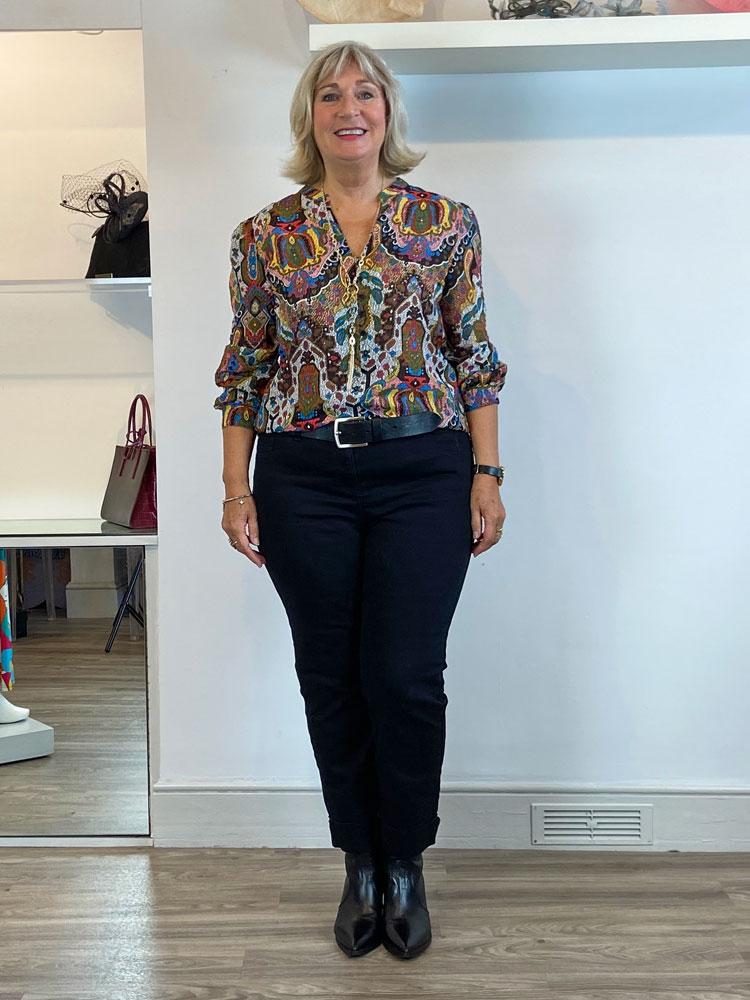 emme-marella-result-printed-blouse-black