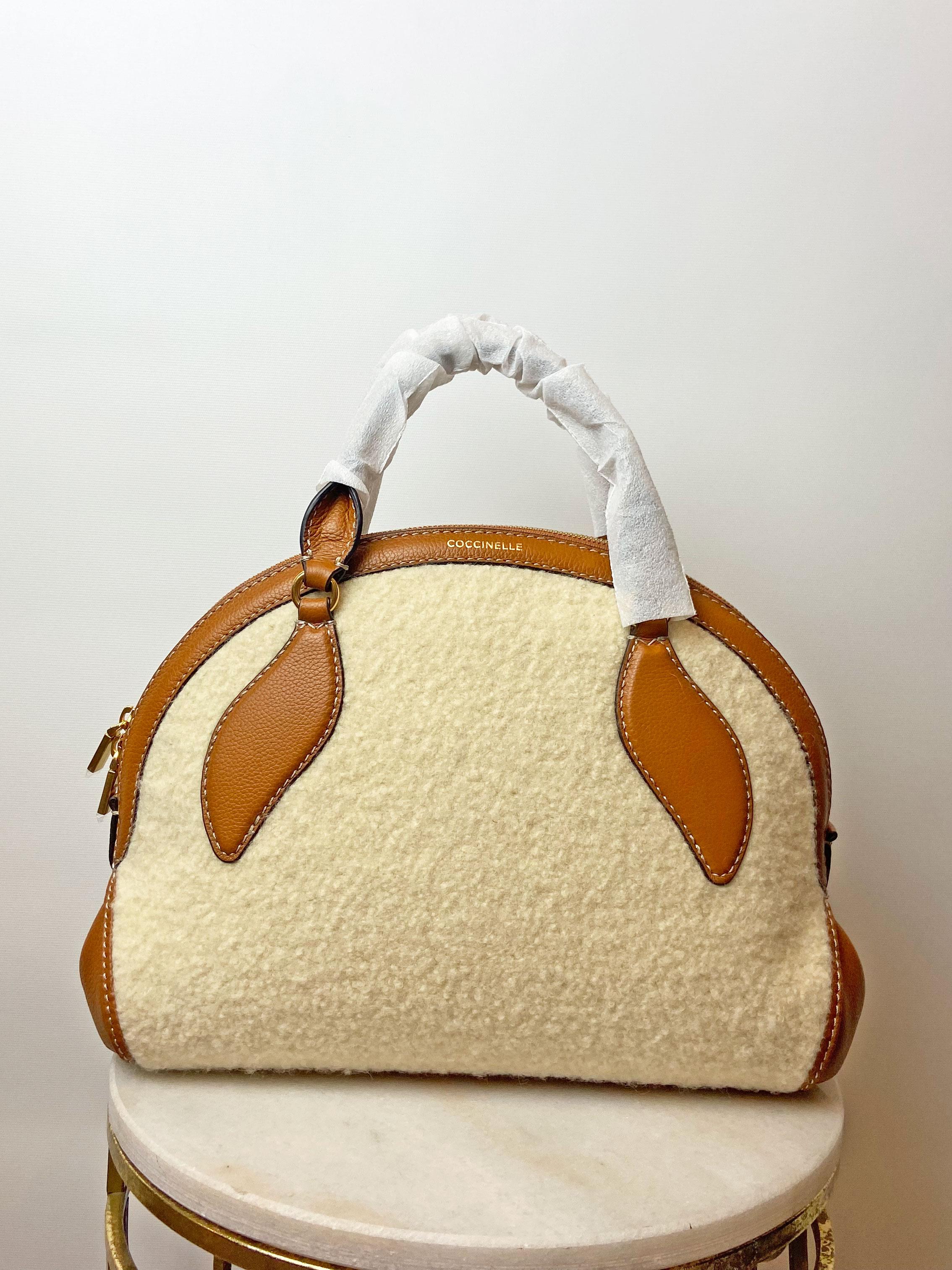 coccinelle-colette-wool-handbag-natural-caramel