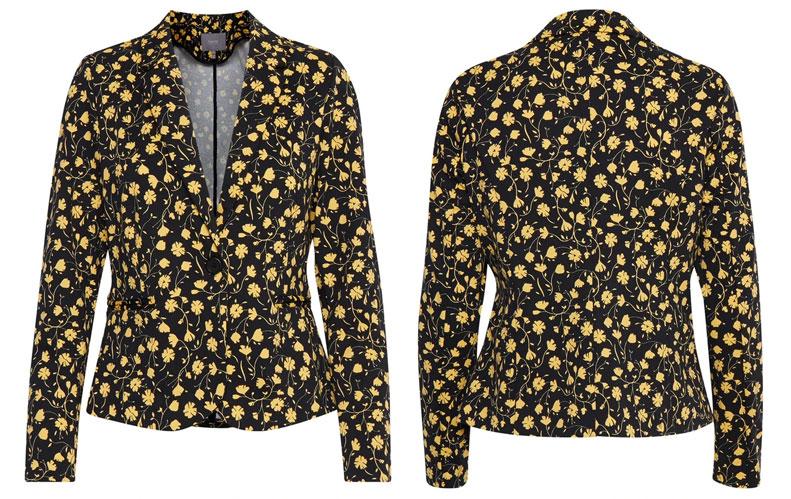 b-young-rizetta-blazer-floral-black