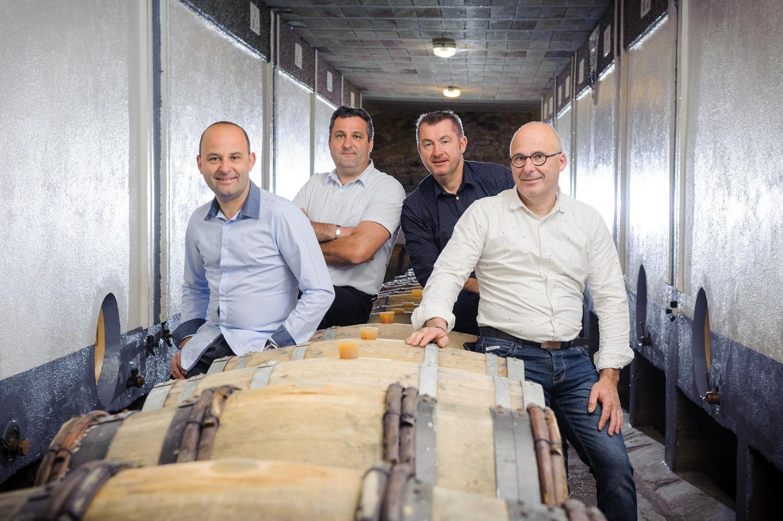 Vignoble Drouard cellar with 4 of the  winemakers of Sauvignon Blanc Val de Loire 2020.