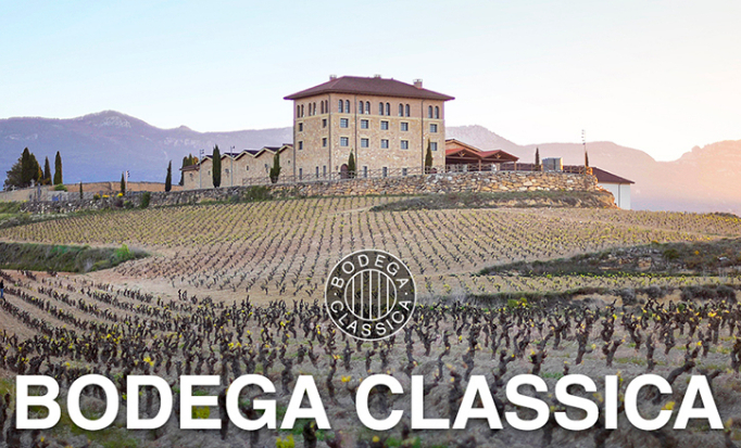 Chateau and vineyard of Bodega Classica, producer of Lopez de Haro Crianza.