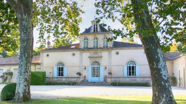 Front view of the Château of Château Siran, producer of Saint-Jacques De Siran Bordeaux Superieur 2017.