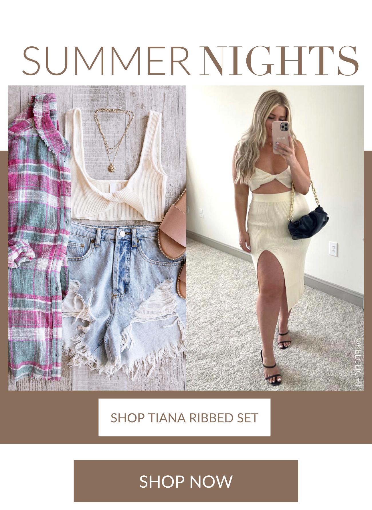 Shop Tiana Ribbed Set