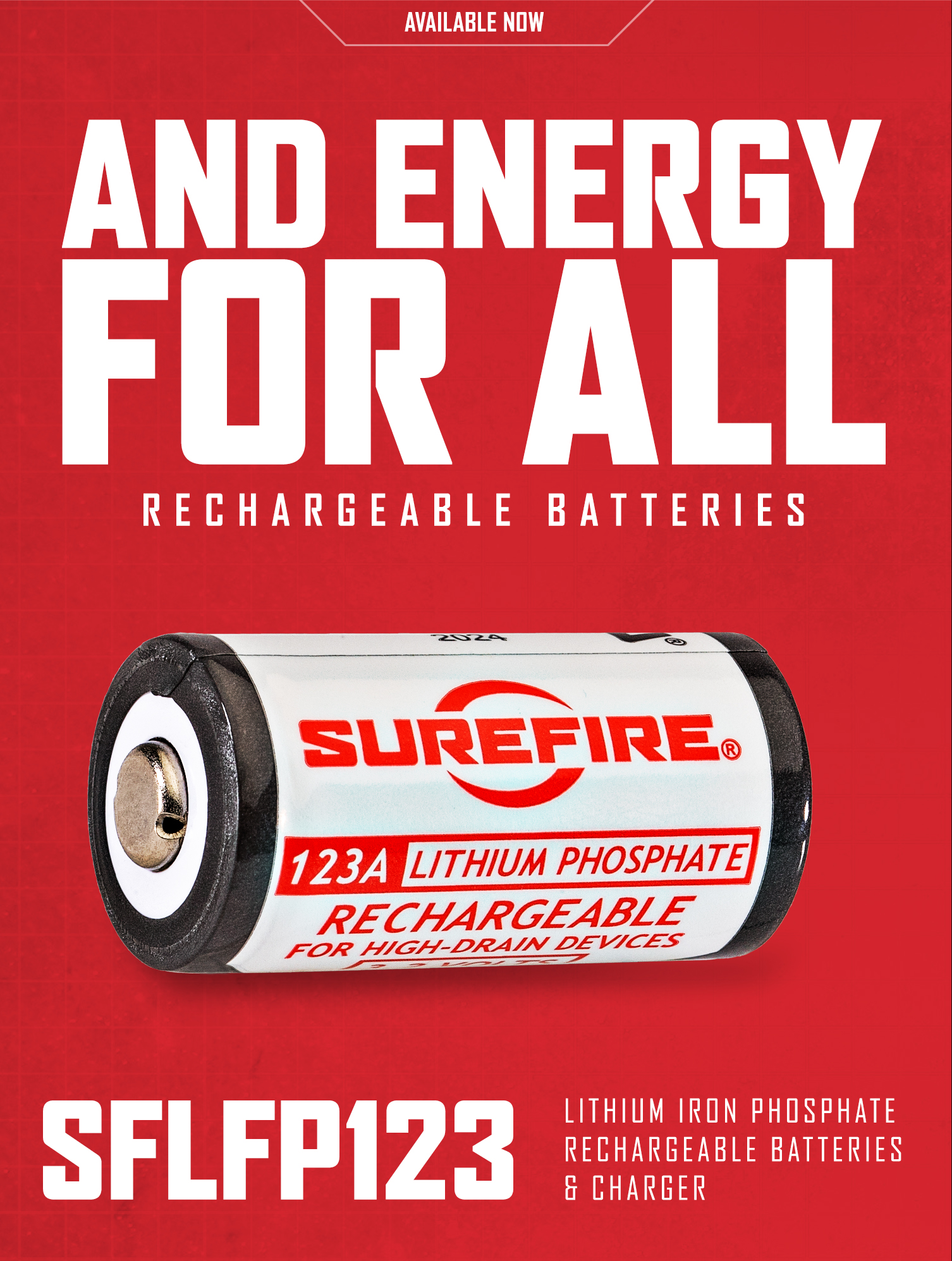 SureFire SFLFP Rechargeable Batteries