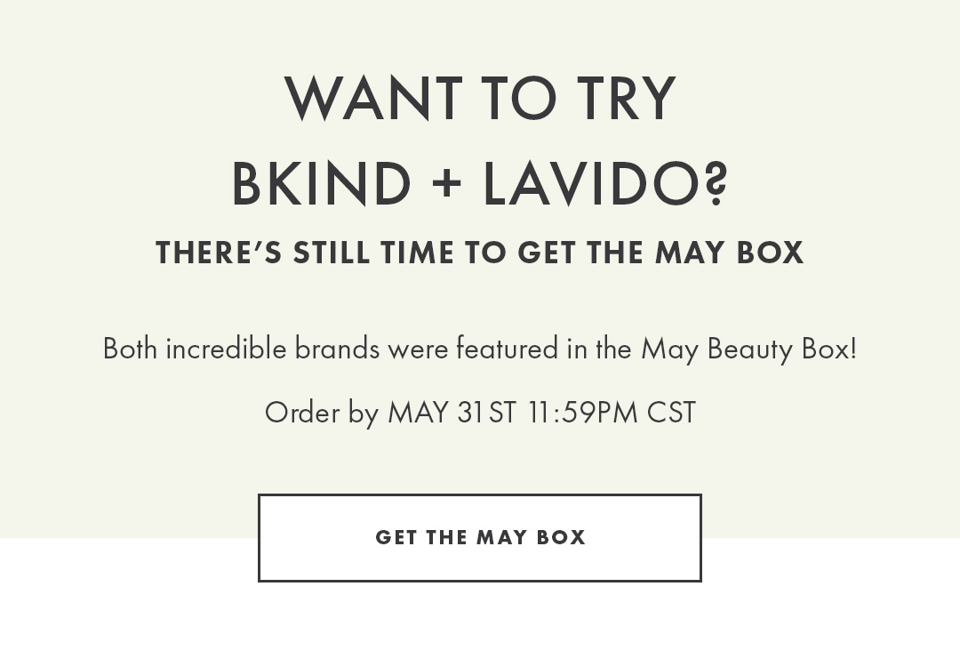 Get the May Beauty Box