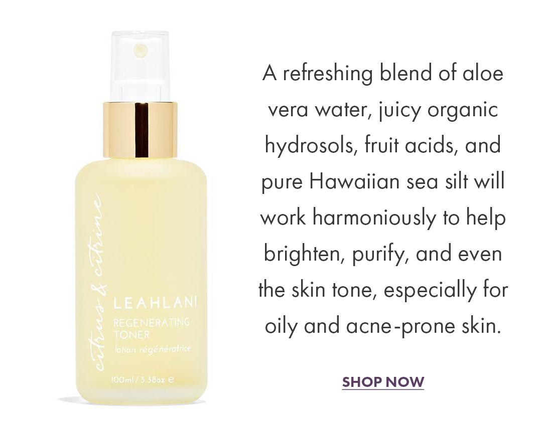 Shop Citrus & Citrine Regenerating Toner by Leahlani