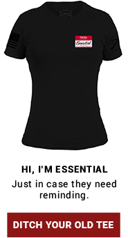 Hi, I'm Essential - Just in case they need reminding.   Ditch Your Old Tee