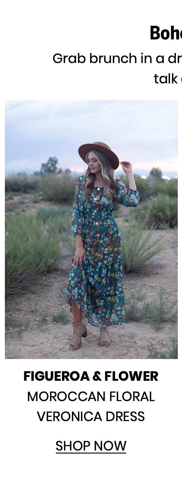 """Shop the """"Moroccan Floral Veronica Dress"""" by Figueroa & Flower"""