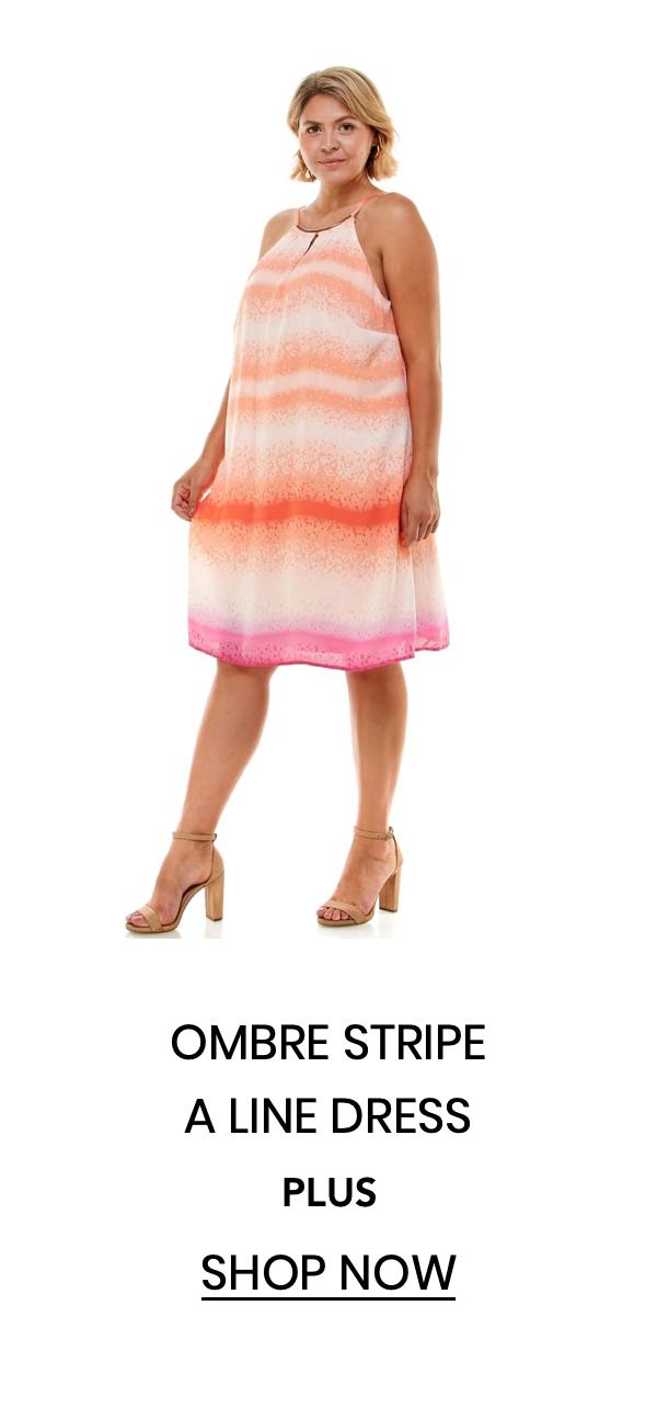 """Shop the """"Ombre Stripe A Line Dress"""""""