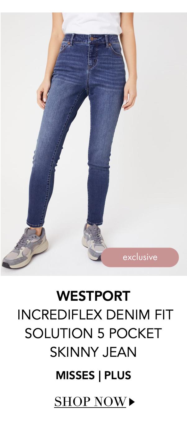 """Shop the """"Westport Incrediflex Denaim Fit Solution 5 Pocket Skinny Jean"""" by Westport"""