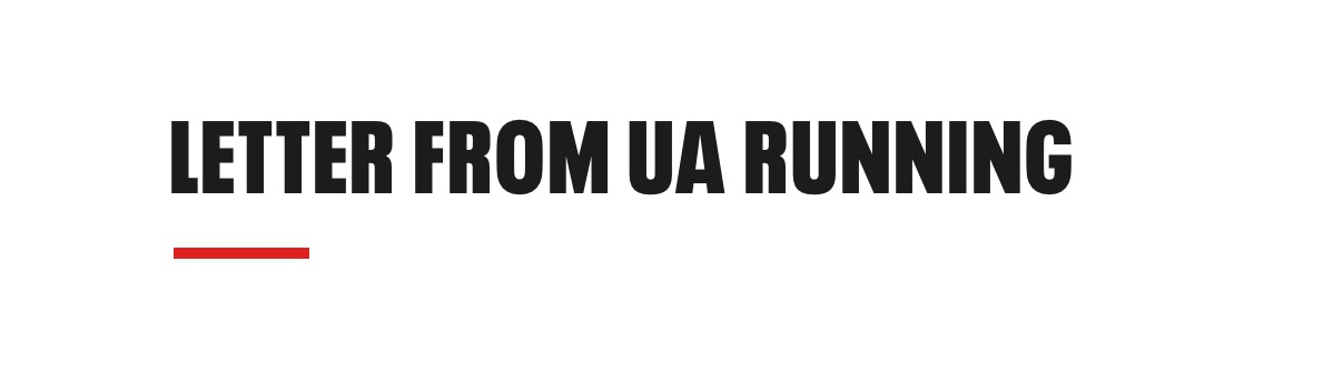 A letter from UA Running
