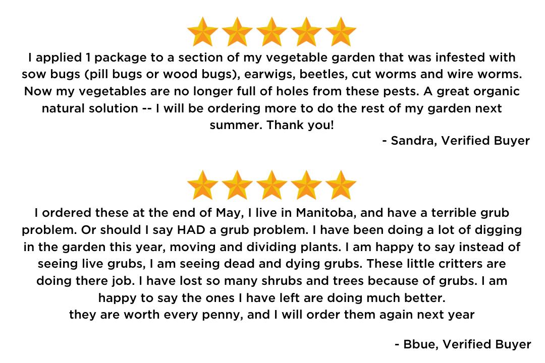Nematodes: Customer Reviews