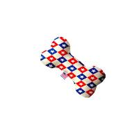 Patrotic Checkered Stars Bone Dog Toy