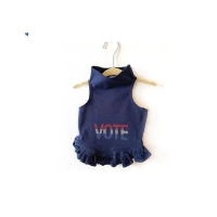Vote in Red, White & Blue Flounce Dress