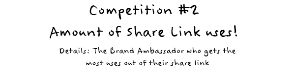 Competition 2: Amount of share link uses