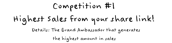 Competition 1: Highest Sales from your share link
