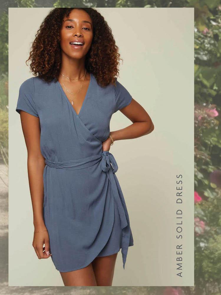 Amber Solid Dress