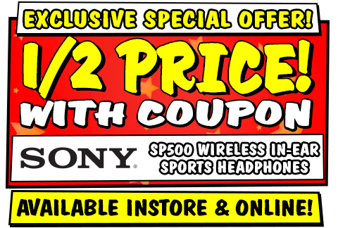 Sony SP500 Wireless In-Ear Sports Headphones