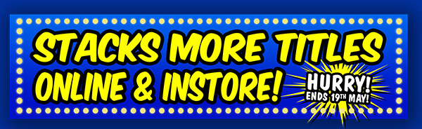 Stacks more titles instore & online