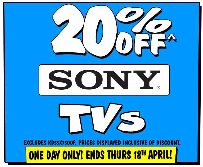 20% off Sony TVs