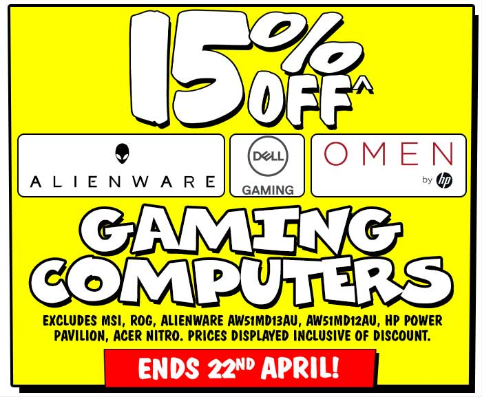 15% off gaming Computers