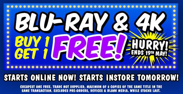 Blu-Ray & 4K Buy 1 get 1 free!