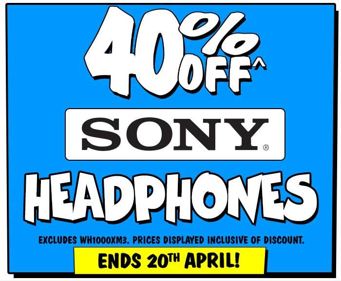 40% off Sony Headphones