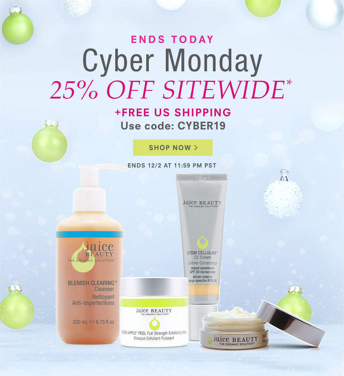 Cyber Monday 25% Off Sitewide + Free Shipping