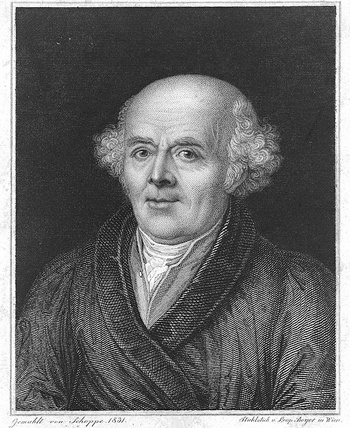 Linograph of Dr. Samuel Hahnemann