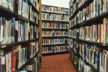 Photo of book shelves