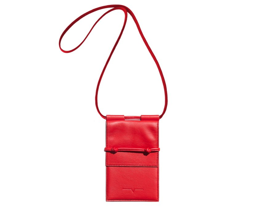 The Micro Bag in Cherry