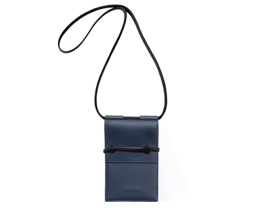 The Micro Bag in Denim and Black