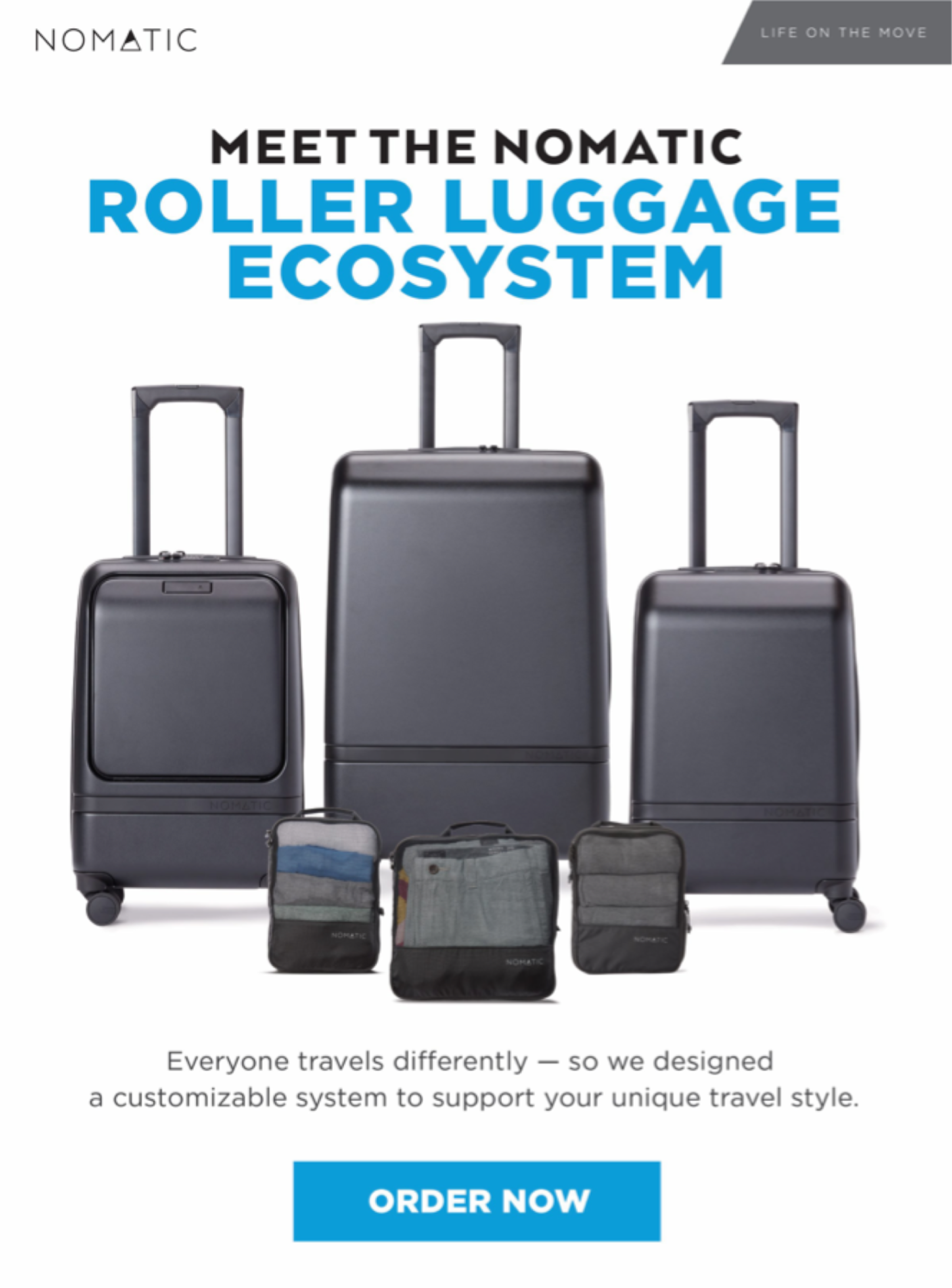 Meet The NOMATIC Roller Luggage Ecosystem - Now Shipping